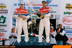 Matteo Luise è secondo assoluto nel Rally del Ciocco 1997