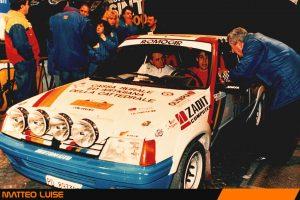 L'esordio di Matteo Luise nei rally all'Adria 1989 come premio per la vittoria nel corso piloti e navigatori