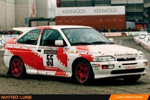 Matteo Luise in azione nel Memorial Bettega al Motorshow 1993