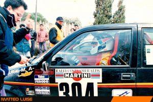 La concentrazione di Luise alla partenza di una prova speciale del Rally Costa Smeralda