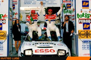 Matteo Luise è terzo assoluto nel Rally del Salento 1996